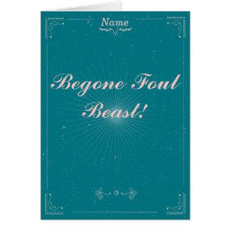 Carte d'adieu - bête fétide de Begone