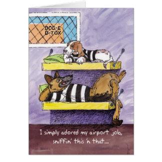 Carte d'adieu - désintoxication de chien