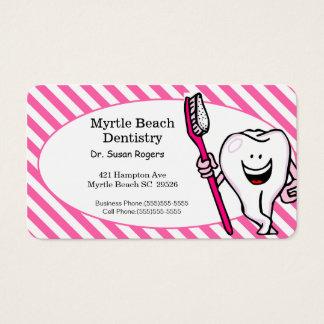 Carte d'affaires et de rendez-vous de dentiste carte de visite standard