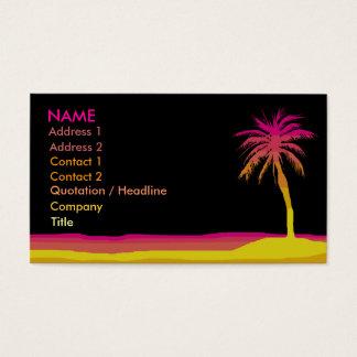 Carte d'affaires/profil de plage