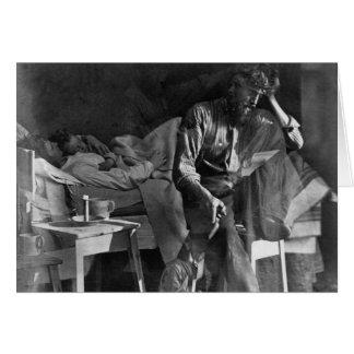 Carte Daguerréotype vintage 1860 de difficultés