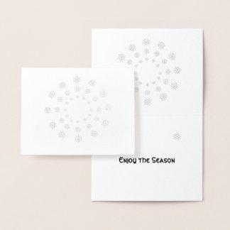 Carte d'aluminium - flocons de neige en cercles