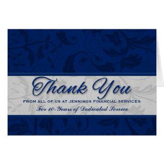 Carte Damassé bleue faite sur commande d'appréciation