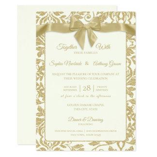 Carte Damassé d'or et mariage d'arc