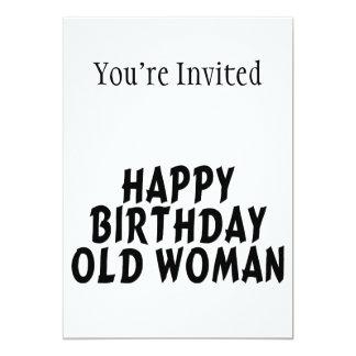 Carte Dame âgée de joyeux anniversaire