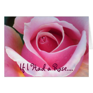 Carte d'amour de rose de rose