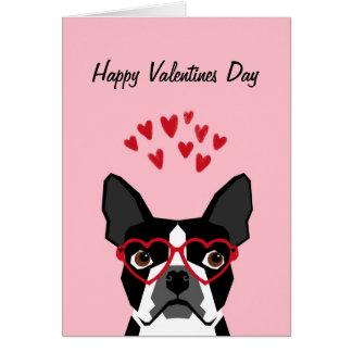Carte d'amour de Valentines de Boston Terrier