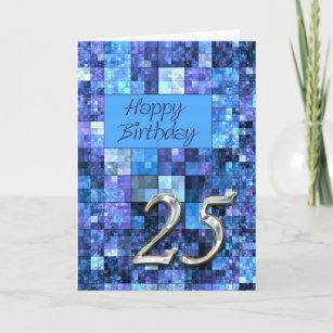 Carte d'anniversaire 25 avec les places abstraites