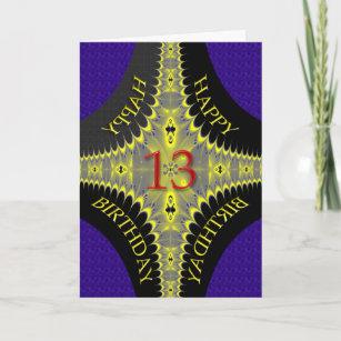 Carte d'anniversaire abstraite pour 13 ans