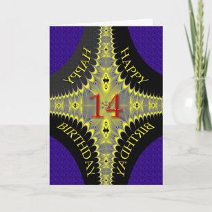 Carte d'anniversaire abstraite pour 14 ans