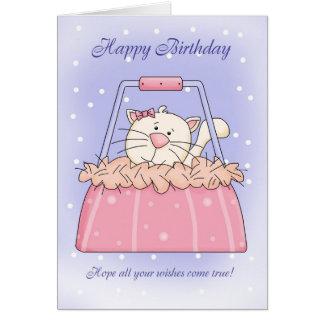 Carte d'anniversaire - animal familier mignon de