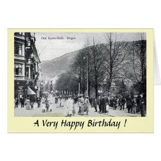 Carte d'anniversaire - Bergen, Norvège