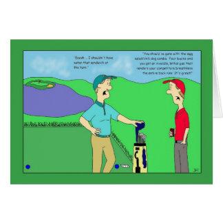 Carte d'anniversaire combinée de golf de chien de