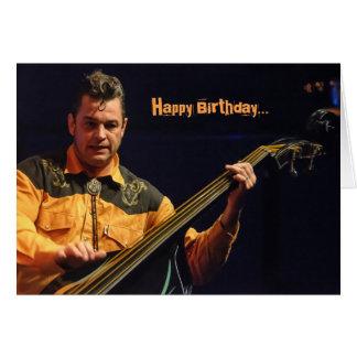 Carte d'anniversaire comique de bassiste de