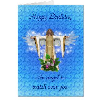 Carte d'anniversaire d'ange gardien