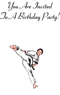 Carte Anniversaire Karate.Invitations Faire Part Cartes Anniversaire Judo Zazzle Be