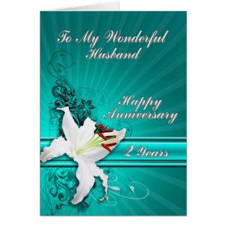 carte d'anniversaire de 2 ans pour un mari