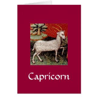 Carte d'anniversaire de Capricorne