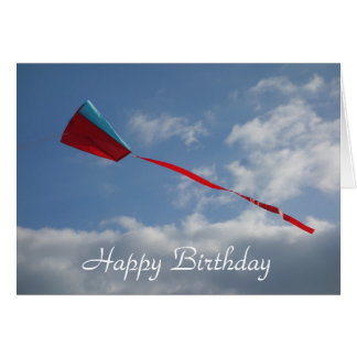 Carte d'anniversaire de cerf-volant