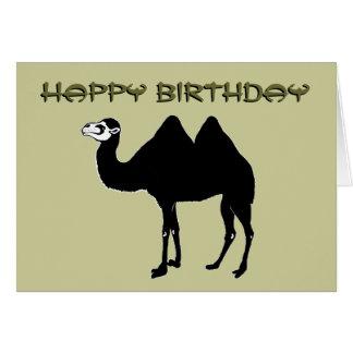 Carte d'anniversaire de chameau Bactrian
