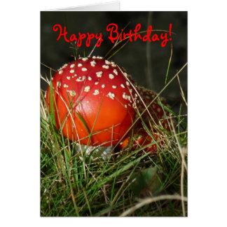 """Carte d'anniversaire """"de champignon d'agaric de"""