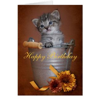 Carte d'anniversaire de chaton