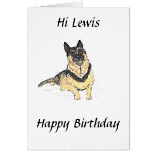Carte d'anniversaire de chien de berger allemand