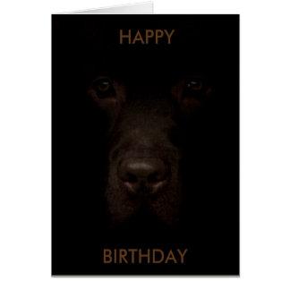Carte d'anniversaire de chien de Labrador