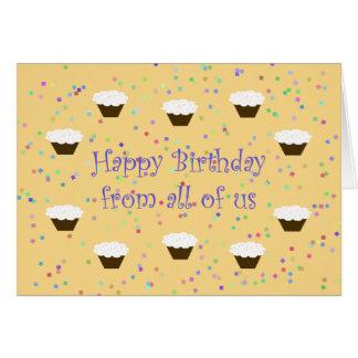 Carte d'anniversaire de collègue de bureau de