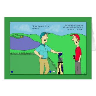 Carte d'anniversaire de conseil de golf