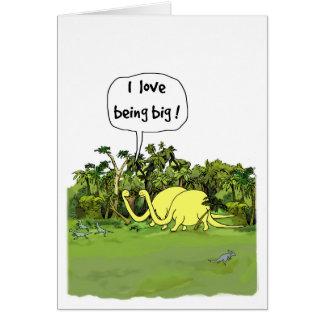 Carte d'anniversaire de dinosaure