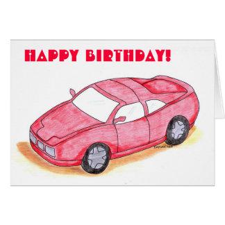 Carte d'anniversaire de enfant - Racecar