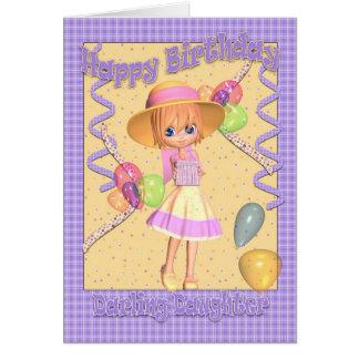 Carte d'anniversaire de fille - petite fille