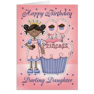 Carte d'anniversaire de fille - princesse de petit