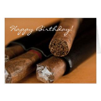 Carte d'anniversaire de fumeur de cigare