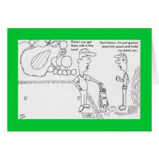 Carte d'anniversaire de golf