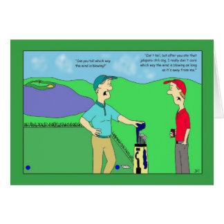 Carte d'anniversaire de golf de chien de piment de