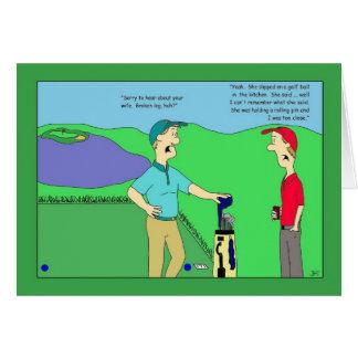 Carte d'anniversaire de golf de jambe cassée d'épo