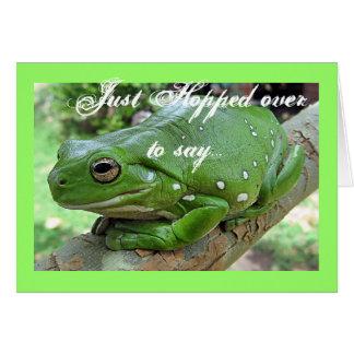 Carte d'anniversaire de grenouille verte