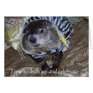 Carte d'anniversaire de Groundhog Maude