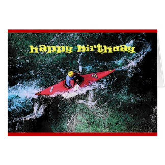 Carte d'anniversaire de Kayaker