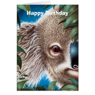 Carte d'anniversaire de koala