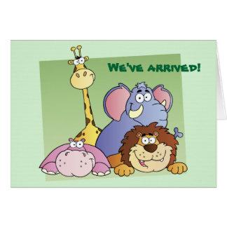 Carte d'anniversaire de l'enfant d'amis de jungle