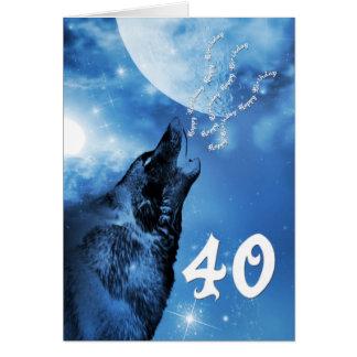 Carte d'anniversaire de loup de fantôme