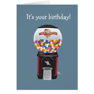 Carte d'anniversaire de machine de Gumball