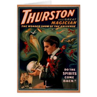 Carte d'anniversaire de magicien de Thurston