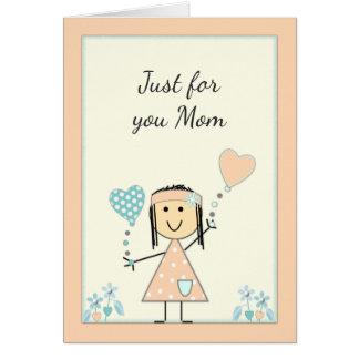 Carte d'anniversaire de maman de fille