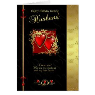 Carte d'anniversaire de mari - mari de joyeux