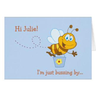 Carte d'anniversaire de miel de l'enfant mignon