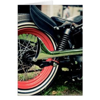 Carte d'anniversaire de motard de moto de Harley